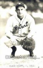 spo070443 - Glenn Myatt Base Ball Postcard Detroit Tigers Baseball Postcard Post Card