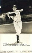 spo070459 - Barney McCosky Base Ball Postcard Detroit Tigers Baseball Postcard Post Card