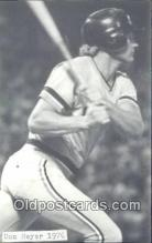 spo070466 - Dan Meyer Base Ball Non Postcard Detroit Tigers Baseball Postcard Post Card