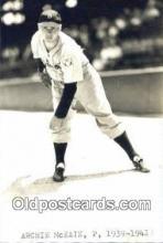 spo070475 - Archie McKain Base Ball Postcard Detroit Tigers Baseball Postcard Post Card