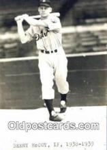 spo070513 - Benny McCoy Base Ball Postcard Detroit Tigers Baseball Postcard Post Card