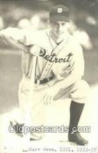 spo070542 - Marv Owen Base Ball Postcard Detroit Tigers Baseball Postcard Post Card