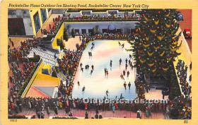 Rockefeller Plaza Outdoor Ice Skating Pond