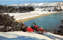 Snowmobiling in Acadia National Park