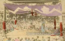 spo100004 - Sumo Wrestling Old Vintage Antique Postcard Post Cards