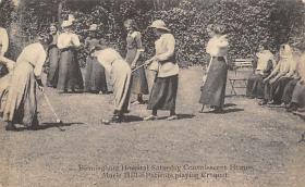 spoA008011 - Birmingham UK Hospital, Patients Playing Croquet Postcard