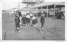 spoA008013 - Chocolate Lombart Advertising, Children Playing Croquet Postcard