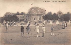 spoA008015 - Royan, Les Jeux Sur La Plage Croquet Postcard