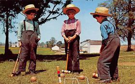 spoA008030 - Penna Dutch Children Croquet Postcard