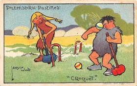 spoA008036 - Artist Lawson Wood, Croquet Postcard