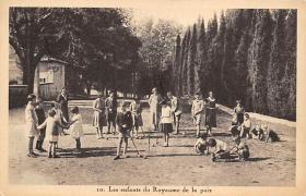 spoA008044 - Les enfants du Royaume de La Paix Croquet Postcard