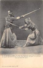 spof011016 - Escrime au sabre Fencing, Fence, Old Vintage Antique Postcard Post Cards