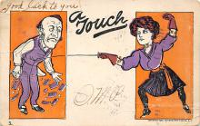 spof011040 - A Touch Fencing Postcard