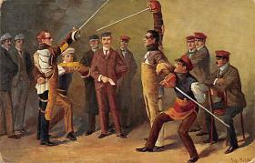 spof011045 - Auf die Mensure Fencing Postcard