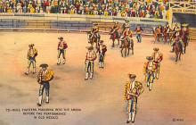 spof017007 - Bull Fighting Parade Into the Arena in Old Mexico Postcard