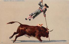 spof017014 - Salto De La Garrocha Bullfighting Postcard
