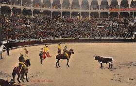 spof017020 - Corrida De Tores Bullfighting Tarjeta Postal Postcard