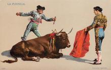 spof017034 - La Puntilla Bullfighting Postcard
