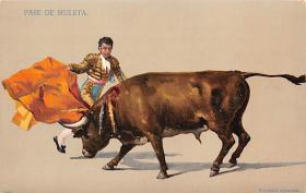 spof017035 - Pase De Muleta Bullfighting Postcard