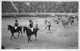 spof017047 - Entrada De Cuadrillas, Plaza De Tores De Bogata, Bullfighting Postcard
