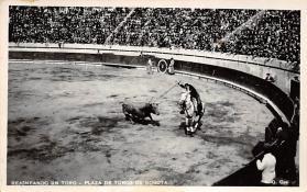 spof017049 - Rejoneando Un Toro - Plaza De Toros De Bogota Tarjeta Postal, Bullfighting Postcard