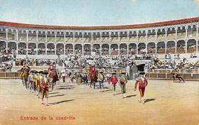 spof017108 - Entrada de la cuadrilla Bullfighting Postcard