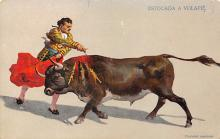 spof017114 - Estocade A Volapie Bullfighting Postcard