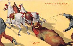 spof017115 - Corrida de Toros El Arrastre  Bullfighting Postcard