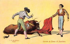 spof017117 - Corrida de Toras El Puntillero Tarjeta Postal, Bullfighting Postcard