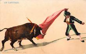 spof017118 - Un Capotazo Tarjeta Postal, Bullfighting Postcard