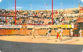 spof017121 - Bullring Drive Partiendo Plaza, Cd. Acuna, Coah, Mexico, Bullfighting Postcard