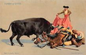 spof017137 - Tumbo Y Quite Tarjeta Postal, Bullfighting Postcard