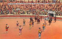spof017140 - Bull Ring at Juarez, Chihuahua, Mexico,  Tarjeta Postal, Bullfighting Postcard