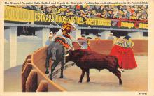 spof017141 - The Mounted Toreador Calls the bull Tarjeta Postal, Bullfighting Postcard