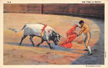 spof017142 - Bull Fight in Mexico Tarjeta Postal, Bullfighting Postcard
