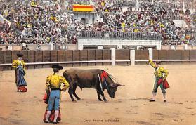 spof017149 - Una Buena Eztocada Tarjeta Postal, Bullfighting Postcard