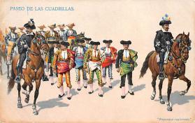 spof017150 - Paseo De Las Cuardrillas Bull Fighing, Tarjeta Postal, Bullfighting Postcard