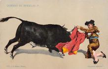 spof017156 - Quiebro de Rodillas Bull Fighing,  Tarjeta Postal, Bullfighting Postcard