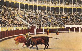 spof017163 - Pase De Muleta Tarjeta Postal, Bullfighting Postcard