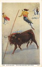 spof017185 - Salto De Vara, Bull Fighting Postcard Postcards