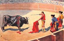 spof017189 - Artist Frank Dean, Bull Fighting Postcard