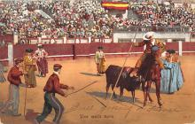 spof017196 - Una Mata Vara Tarjeta Postal, Bullfighting Postcard