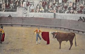 spof017197 - Matador Engages Bull Tarjeta Postal, Bullfighting Postcard