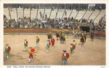 spof017198 - The Grand Parade, Mexico, Bull Fighting Postcard Postcards