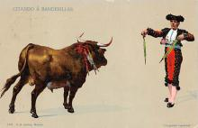 spof017228 - Citando A Banderillas Bull Fighing, Bullfighting Postcard
