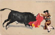 spof017235 - Quiebro de Rodillas Bull Fighing, Bullfighting Postcard