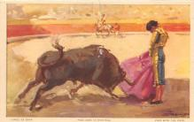 spof017239 - Pase with the Cape Bull Fighing, Bullfighting Postcard