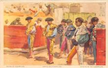 spof017241 - Forming of the Cuadrillas Bull Fighing, Bullfighting Postcard