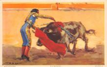 spof017243 - Stabbing the Bull Bull Fighing, Bullfighting Postcard