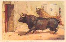 spof017245 - Separation of Bulls Bull Fighing, Bullfighting Postcard